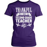 Second Grade - Thankful - District Made Womens Shirt / Purple / S - 4