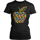 Teacher - Easter Apple - District Made Womens Shirt / Black / S - 2