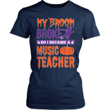 Music - My Broom Broke - District Made Womens Shirt / Navy / S - 2