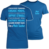 Math - Engage Minds - District Made Womens Shirt / Royal / S - 4