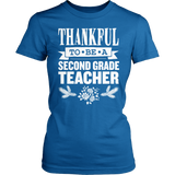 Second Grade - Thankful - District Made Womens Shirt / Royal / S - 7