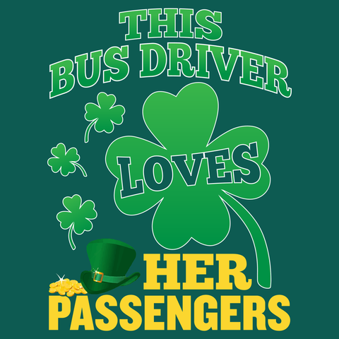School Bus Driver - St. Patrick's Day Her Passengers -  - 14