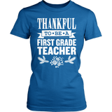 First Grade - Thankful - District Made Womens Shirt / Royal / S - 7