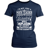 Math - Big Cup - District Made Womens Shirt / Navy / S - 1