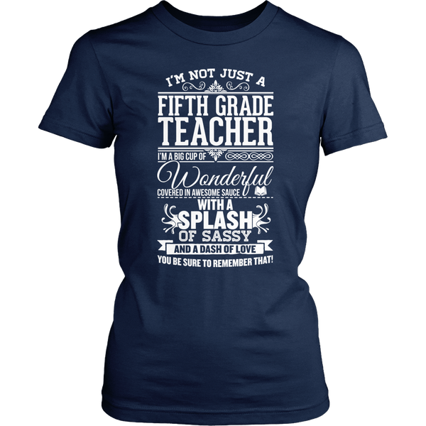 Fifth Grade - Big Cup - District Made Womens Shirt / Navy / S - 1