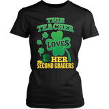Second Grade - St. Patrick's Second Graders - District Made Womens Shirt / Black / S - 5