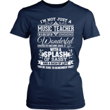 Music - Big Cup - District Made Womens Shirt / Navy / S - 1