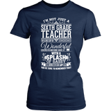Sixth Grade - Big Cup - District Made Womens Shirt / Navy / S - 1