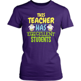Teacher - Eggcellent - District Made Womens Shirt / Purple / S - 2