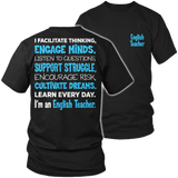 English - Engage Minds - District Unisex Shirt / Black / S - 6