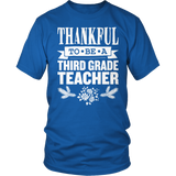 Third Grade - Thankful - District Unisex Shirt / Royal Blue / S - 11