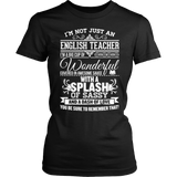 English - Big Cup - District Made Womens Shirt / Black / S - 2