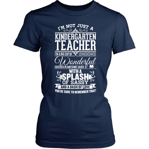 Kindergarten - Big Cup - District Made Womens Shirt / Navy / S - 1