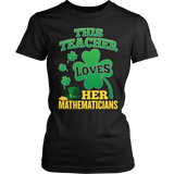 Math - St. Patrick's Mathematicians - District Made Womens Shirt / Black / S - 5