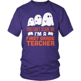 First Grade - Ghosts - District Unisex Shirt / Purple / S - 6