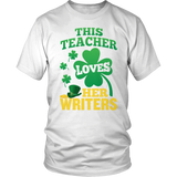 English - St. Patrick's Writers - District Unisex Shirt / White / S - 2