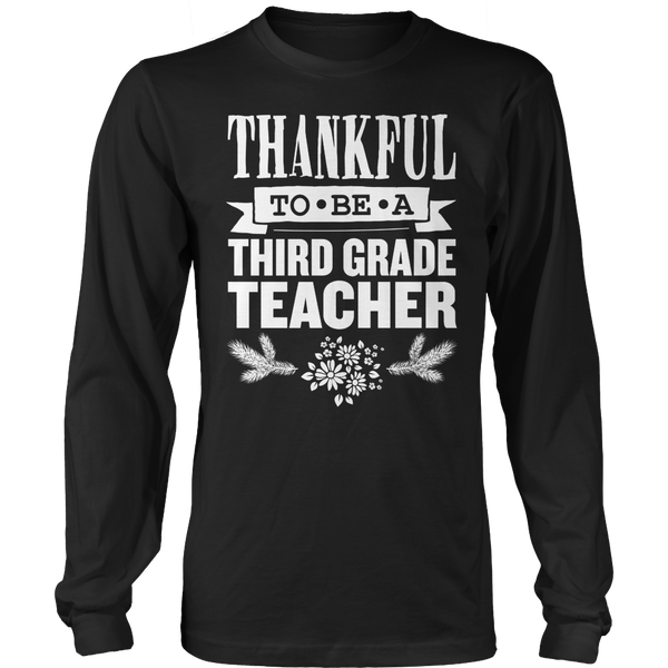 Third Grade - Thankful - District Long Sleeve / Black / S - 1