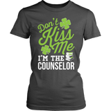 Counselor - Don't Kiss Me - District Made Womens Shirt / Charcoal / S - 7