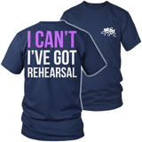 Theater - I Cant - District Unisex Shirt / Navy / S - 6