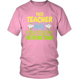Math - Eggcellent - District Unisex Shirt / Pink / S - 8
