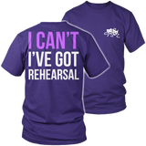 Theater - I Cant - District Unisex Shirt / Purple / S - 7