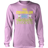 Counselor - Eggcellent Students - District Long Sleeve / Pink / S - 11