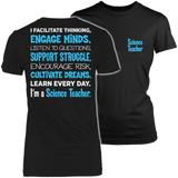 Science - Engage Minds - District Made Womens Shirt / Black / S - 2
