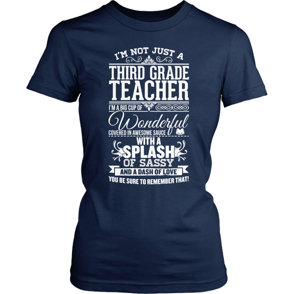 Third Grade - Big Cup - District Made Womens Shirt / Navy / S - 1