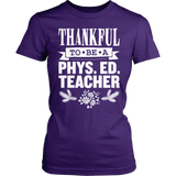 Phys Ed - Thankful - District Made Womens Shirt / Purple / S - 4