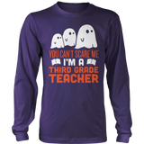 Third Grade - Ghosts - District Long Sleeve / Purple / S - 9