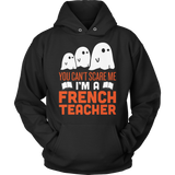 French - Halloween Ghost - Hoodie / Black / S - 4