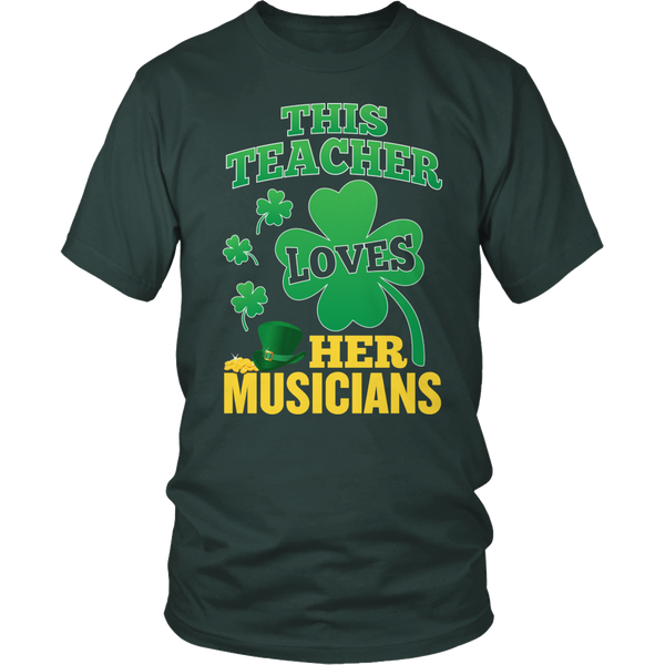 Music - St. Patrick's Musicians - District Unisex Shirt / Dark Green / S - 1
