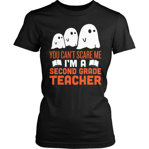 Second Grade - Ghosts - District Made Womens Shirt / Black / S - 1