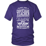 Fourth Grade - Big Cup - District Unisex Shirt / Purple / S - 7