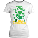 Second Grade - St. Patrick's Second Graders - District Made Womens Shirt / White / S - 6