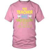 First Grade - Eggcellent - District Unisex Shirt / Pink / S - 8