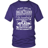 English - Big Cup - District Unisex Shirt / Purple / S - 7
