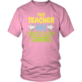 Teacher - Eggcellent - District Unisex Shirt / Pink / S - 8