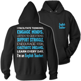 English - Engage Minds - Hoodie / Black / S - 12