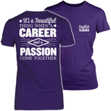 English - Beautiful Thing - District Made Womens Shirt / Purple / S - 3