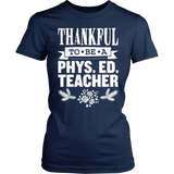 Phys Ed - Thankful - District Made Womens Shirt / Navy / S - 5