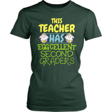 Second Grade - Eggcellent - District Made Womens Shirt / Forest Green / S - 3