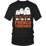 French - Halloween Ghost - District Unisex Shirt / Black / S - 2