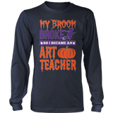 Art - My Broom Broke - District Long Sleeve / Navy / S - 8