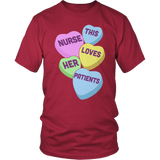 Nurse - Candy Hearts - District Unisex Shirt / Red / S - 9