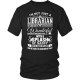 Librarian - Big Cup - District Unisex Shirt / Black / S - 6
