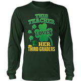 Third Grade - St. Patrick's Third Graders - District Long Sleeve / Dark Green / S - 8