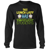Lunch Lady - Eggcellent - District Long Sleeve / Black / S - 12