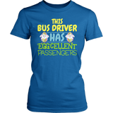 School Bus Driver - Eggcellent - District Made Womens Shirt / Royal / S - 1