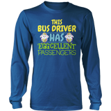 School Bus Driver - Eggcellent - District Long Sleeve / Royal Blue / S - 9